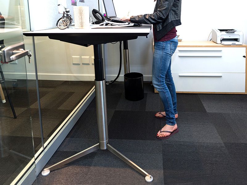 Sit-slash-stand desks