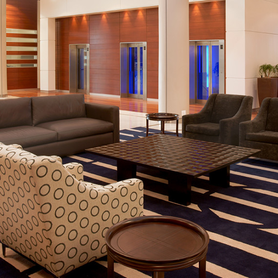 liberty life - plush hotel feel in office reception