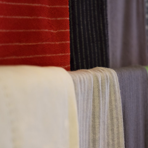 exclusive cashmere or pure wool throws