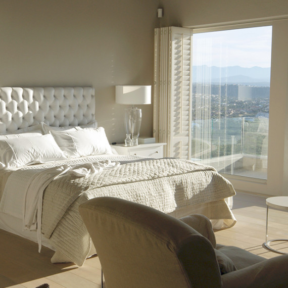 Exquisite bedroom designed by internationally renown in home and interior design consultancy